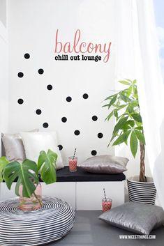 DIY: Chill Out Lounge für den Balkon