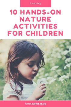 10 hands-on nature activities for children who like to explore and discover the great outdoors Nature Activities, Infant Activities, Learning Activities, Outdoor Activities, Activities For Kids, Preschool Ideas, Outdoor Learning, Outdoor Play, Kids And Parenting