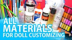 A run down of all the materials you could need to get into this hobby! I hope you find this helpful. FACE- ESSENTIALS A. Diy Ooak Doll, Ooak Dolls, Blythe Dolls, Barbie Dolls, Barbie Life, Doll Repaint Tutorial, Doll Tutorial, Biscuit, Doll Painting
