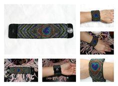 Loom Beaded Bracelet Peacock Design by Mystical Heart Creations ~ MysticalHeart7 on Etsy