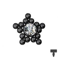 7 mm Dermal Anchor schwarz Kugeln Stern in Materialstärke 1.2 mm Dermal Anchor, Chf, Piercing, Bracelet Watch, Bracelets, Accessories, Stars, Black, Dermal Piercing