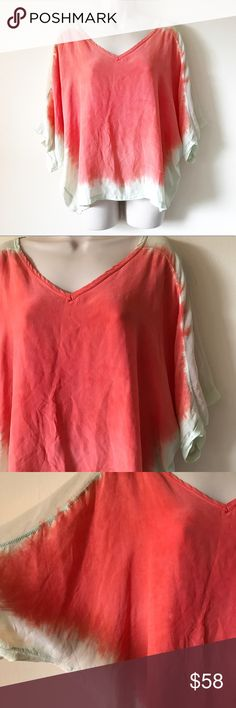 Gypsy 05 Orion bohemian silk top Size medium. In excellent condition, no flaws! So beautiful! 100% silk. Ombré tiedye color. Length-23 ***No modeling or trades!! ::151 Gypsy 05 Tops Blouses