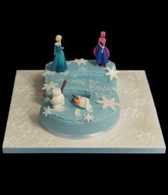 number shaped cakes frozen theme Google Search Kids Birthday