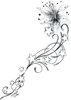 abstract star tattoos for women | star tattoo design