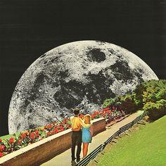 Moonwalk love Framed Art Print by Mariano Peccinetti - Vector Black - MEDIUM Surreal Collage, Surreal Art, Collages, Collage Art, Love Collage, Psychedelic Art, Photomontage, Art Inspo, Psy Art