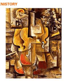 Picasso Musical Instruments Diy Paint By Numbers Kits.It is the perfect first step for beginners to enjoy the art of painting using our People paint by number collection.Paint your own wall art, even if you… Violin Painting, Diy Painting, Picasso Pictures, Kit Pintura, In China, Art Origami, Picasso Paintings, Acrylic Paint Set, Paint By Number Kits