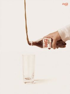 Vintage Coca-Cola advertisement. Funny and Creative advertisements | Designer.  Luke Yun @Luke Yun @lukashMAYYN   Cola is going up!!?? Perhaps an inventive idea for telling us how unhealthy they are or how strong you can become with such a will?