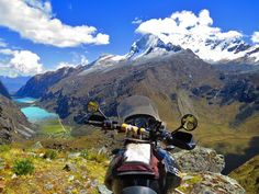 Picture by Benoit & Angela Martin, Canada; Our bike, Nationwide Park Huascarán Peru. Ushuaia, Motorcycle Travel, Motorcycle Adventure, Oh The Places You'll Go, Places To Visit, Journey Tattoo, Photo Contest, Bmw, Vacation Destinations
