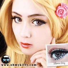 Get these beautiful gorgeous lenses that will make your eyes shine brighter than a diamond - ColourVUE GLAMOUR GREY Contact Lens Brands, Grey Contacts, Aztec Designs, Picture Collection, Beautiful Gorgeous, Light In The Dark, Color Change, Lenses, Vibrant Colors