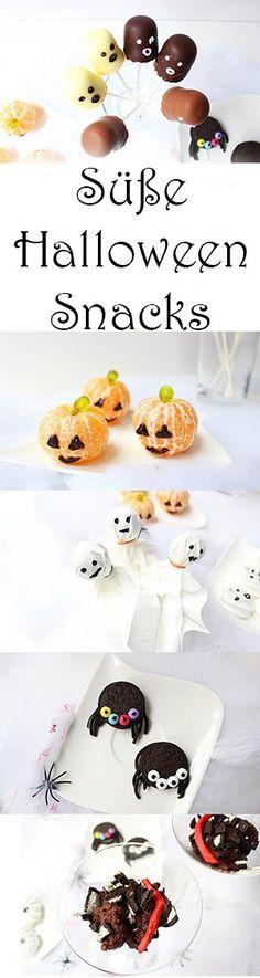 Süße Halloween Snacks für Kinder ganz schnell und einfach selber machen!