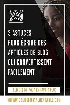 Comment écrire un article de blog réussi ? Comment écrire un article de blog de qualité et efficace pour votre blog comme un rédacteur web? Cliquez ici et découvrez mes meilleures conseils de rédaction web pour écrire pour le web et pour rédiger un article de blog à forte conversion et pour devenir un blogueur pro rapidement.