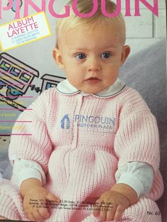 "Baby Knitting Patterns, 6 Summer Baby Layettes to Knit, 53 Sizes For newborn to 18 Months, ""Pingouin"" 60 Baby Layette, Canada, Summer Baby, Baby Knitting Patterns, Picture Show, 18 Months, Etsy Shop, Babies, Stitch"