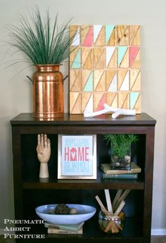 Pneumatic Addict: Easy Geometric Wall #Art. #diyprojects #diyideas #diyinspiration #diycrafts #diytutorial