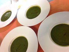 Vellutata di spinaci a La Rèserve SpA si Caramanico Terme