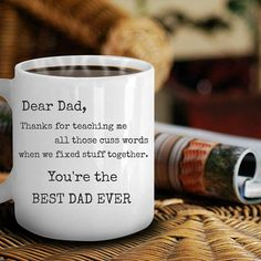 Great Gifts Coffee Mugs Funny For Dad Coffee Dad, Best Coffee Cup, Funny Coffee Mugs, Coffee Humor, Unique Gifts For Dad, Best Dad Gifts, Gifts For Father, Love Gifts, Lawyer Gifts