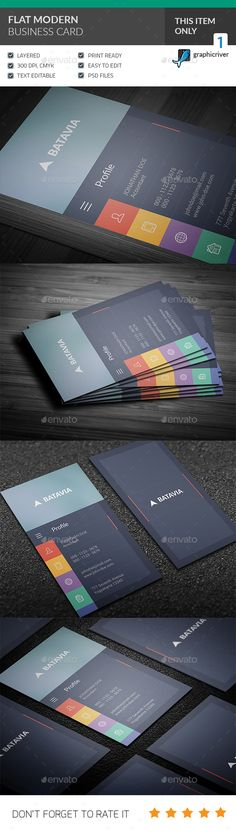 Flat Modern Business Card - Corporate Business Cards Download here : https://graphicriver.net/item/flat-modern-business-card/19301944?s_rank=185&ref=Al-fatih
