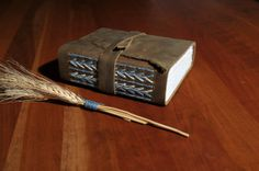 """Handmade, Leather Travel Journal, Sketchbook, Watercolor Book, Notepad with Intricate Spine Detail 6.5"""" x 5.5"""" x 2.25"""""""
