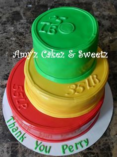 CROSSFIT inspired cake, weight lifting