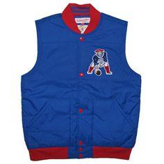 #Patriots M+N Throwback Free Agent Vest-Royal