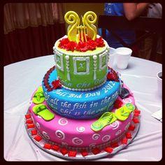 Alpha Chi cake. AWESOME!