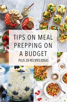 Meal prepping on a budget? Check out these tips for meal prepping on a budget and 28 recipes to help you stay on your meal prep budget!