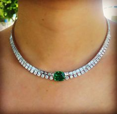 Anita Ko (@anitakojewelry) on Instagram: Things just got so real...obsessed with this new emerald and diamond necklace I designed for a client.
