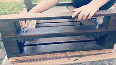 How to Make a Pallet Coffee Table (Tutorial+video) Coffee Tables Submitted Tutorials