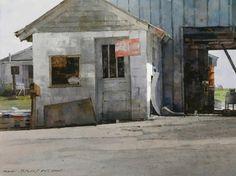 Mr. Willie Ward's Shop - watercolor - 12x16 - Dean Mitchell