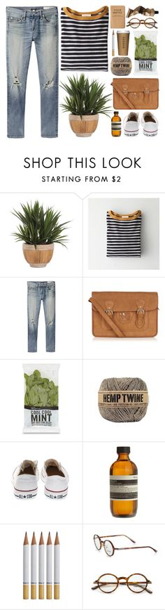 """""""DAY WEAR - HEMP"""" by pretty-basic ❤ liked on Polyvore featuring Lux-Art Silks, Demylee, rag & bone/JEAN, Oasis, Converse, Aesop, Tom Ford and prettybasic"""