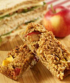 Plum and Nectarine oat bars