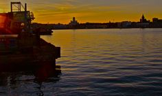 Midsummer night. White Church view from South Harbour. Photo by Jouni Jyllinmaa.