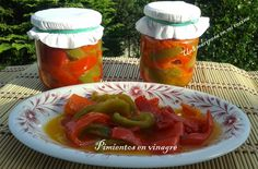 Conserva de pimientos en vinagre Food Hacks, Food Tips, Paella, Preserves, Thai Red Curry, Dips, Tacos, Good Food, Healthy Recipes