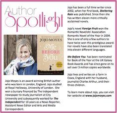 Check out this week's #AuthorSpotlight: #JojoMoyes #awardwinning #british #romantic #novelist