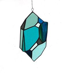 An eye-catching suncatcher, made from subtly textured stained glass. #etsyfinds