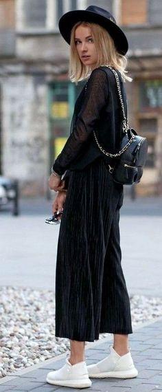 #summer #boho #chic #style | Black Jumpsuit