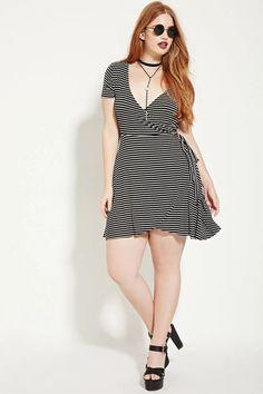 Plus Size Striped Wrap Dress #forever21plus