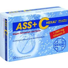 ASS + C HEXAL Brausetabletten gegen Schmerzen und Fieber:   Packungsinhalt: 20 St Brausetabletten PZN: 00255504 Hersteller: Hexal AG…