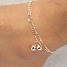 Twin Layers Bell Anklet