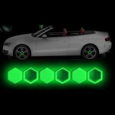 20pcs/set  Luminous Car Silica Bolt Caps Wheel Screw Nuts Covers  Protective Hub  Protector 5 Color 17# 19# 21#
