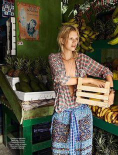 Nadine Leopold is Summer Ready for Glamour France Spread by Hilary Walsh Boho Gypsy, Bohemian Style, Boho Chic, Glamour France, The Animals, Pattern Mixing, Hippie Chic, Simple Outfits, Belle Photo