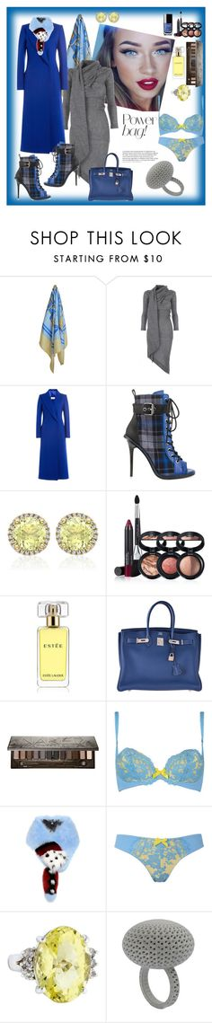 """""""Winter Blues"""" by izimaher ❤ liked on Polyvore featuring Hermès, Vivienne Westwood Anglomania, Maison Margiela, GX, Kiki mcdonough, Laura Geller, Estée Lauder, Chanel, Urban Decay and Agent Provocateur"""