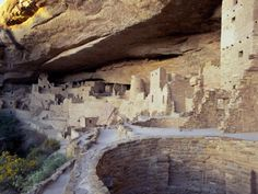 old cave dwellings  | Old Cliff Dwellings and Cliff Palace in the Mesa Verde National Park ...