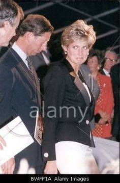 Charles and Diana at Salisbury Cathedral for a fun raiser, 1991