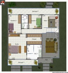 Sobrado - 3 Quartos - 175.46m² - Monte Sua Casa