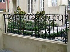 Image result for wrought iron front fences