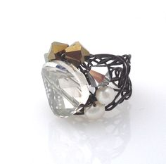 Desideri design cocktail ring $215.00