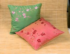 Embroidered Blossom Cushion Cover US$16.95