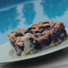 Maritime Blueberry Buckle Recipe   Allrecipes Blueberry Crumble Cake, Blueberry Buckle Recipe, Blueberry Desserts, Just Desserts, Delicious Desserts, Blueberry Recipes Uk, Blueberry Bread, Yummy Food, Fruit Recipes