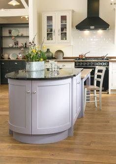 Curved Island Unit In Parma Violet Shaker Kitchen From John Lewis Of Hungerford