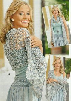 Especially lacy crochet spiderweb stitch pattern. Chal Bufanda Estrella  Cuadrada - Patrones Crochet Chal De eb754e9da53